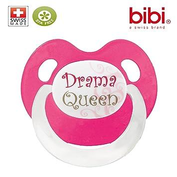 Bibi - Chupete, 0 - 6 meses Drama Queen diseño: Amazon.es: Bebé