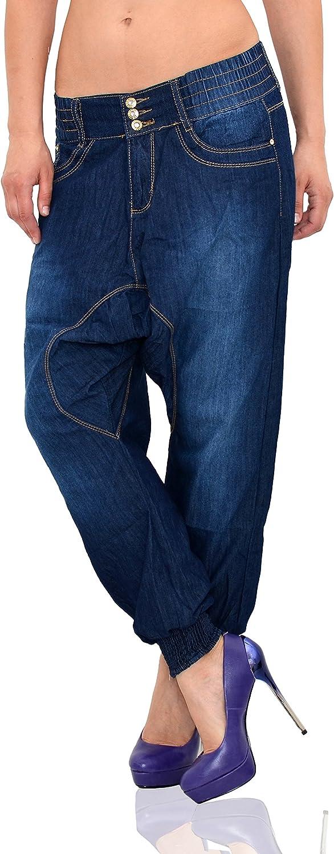 ESRA Jean pour Femme Pantalon Chino Aladin pour Femme Jean Boyfriend Femmes Jean Baggy Femmes Pantalon Sarouel Z160