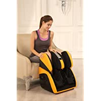 Robotouch Classic Pain Relief Leg/Foot/Calf Massager Heat Therapy Roller Machine, Standard (Yellow)