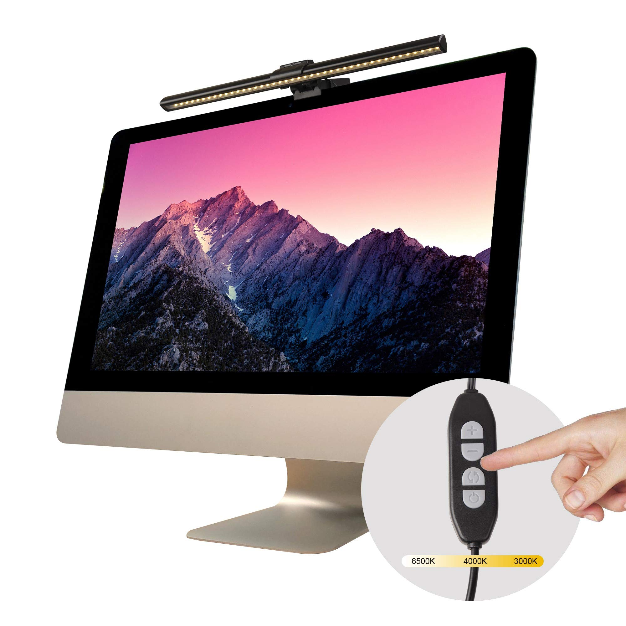 Screenbar E-Reading Lamp Auto-Dimming and Hue Adjustment Screen Glare Free USB Reading Lamps  by CLEVER BEAR