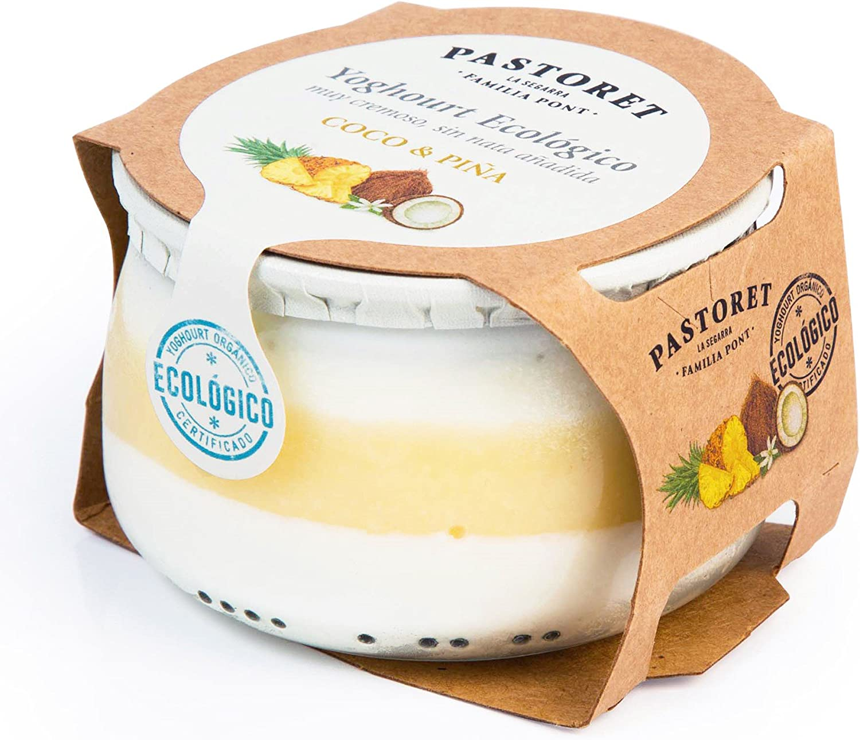 Pastoret - Yogur Ecológico Coco y Piña, 1 Unidad x 135 g ...