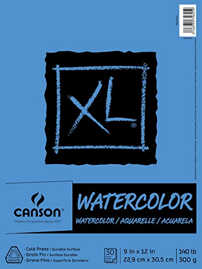 Color Canson XL Series Watercolor Textured Paper Pad For Paint Pencil Ink Charcoal