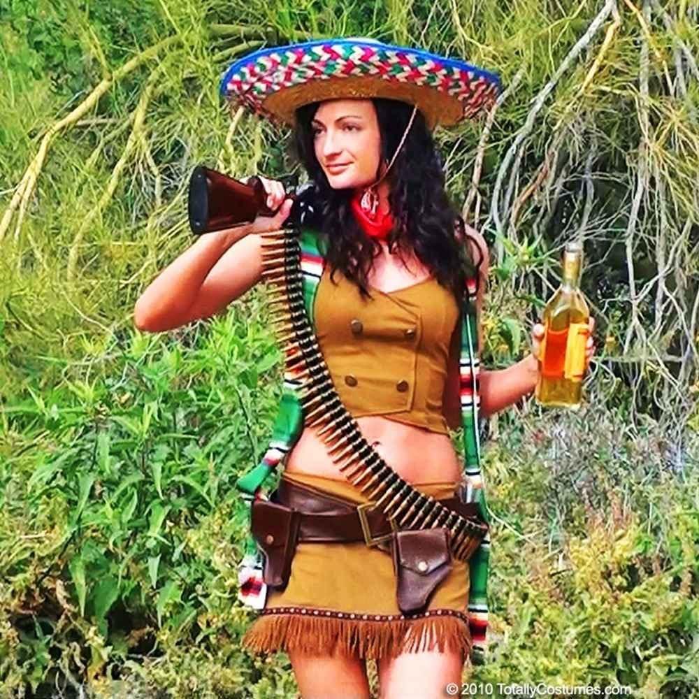 Leg Avenue Sexy Bandita Adult Costume Brown/Tan