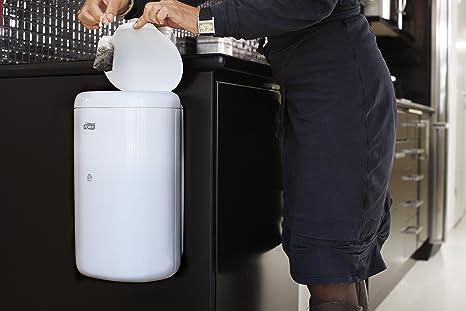 Tork 564000 - Cubo de basura con tapa, 5 l, color blanco: Amazon.es: Industria, empresas y ciencia