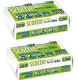 スコッティ ペーパーふきん サッとサッと 400枚(200組)×2個
