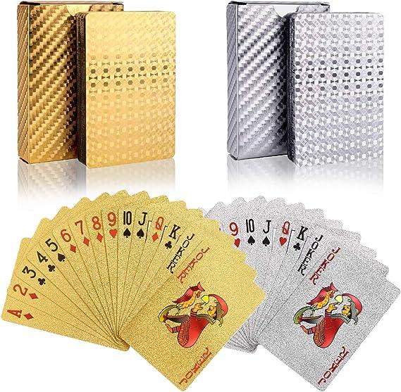 Imagen deBETOY póker Naipes 2 Paquete Cartas de Poker Impermeables Cartas de póker de plástico Cartas magicas clásicas para niños y Adultos Mesa Juegos de Cartas(54 Piezas/Cubierta)