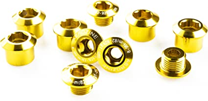 Gold 5-bolts Origin8 Alloy Chainring Bolts Single