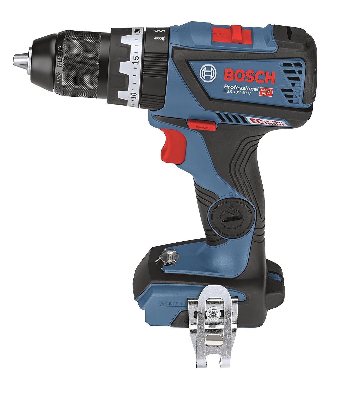 Bosch Professional L-BOXX 18V-60 C Perceuse-visseuse à percussion à batterie 18V Batterie non incluse Couple max. 60Nm Diamètre de la vis 10mm 06019G2103
