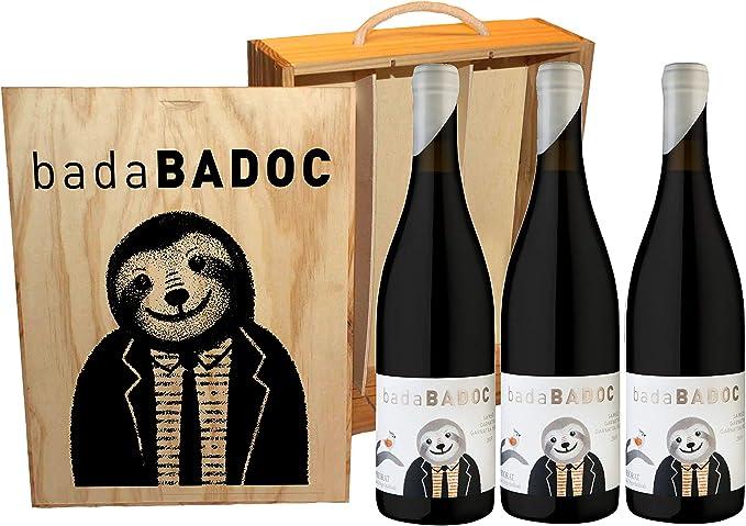 D.O.Q. Priorat - Vino Tinto badaBADOC - Estuche de madera 3 botellas x 0,75CL: Amazon.es: Alimentación y bebidas