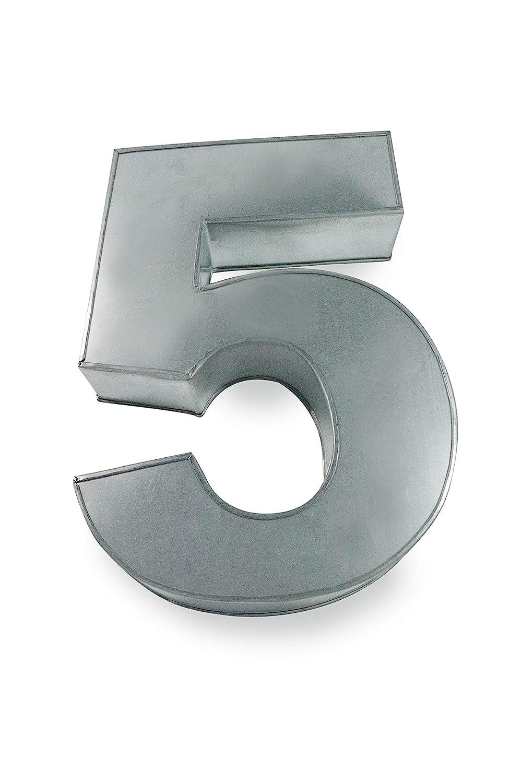 Euro Tins Molde para tarta, diseño de número 5, ideal para aniversario o cumpleaños: Amazon.es: Hogar