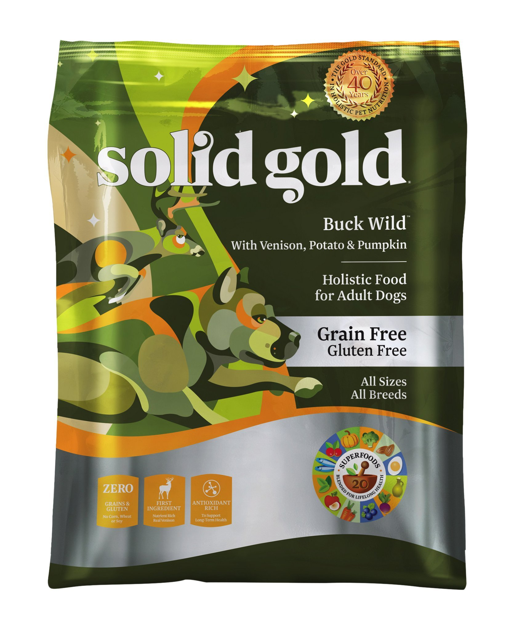 Solid Gold Grain-Free Dry Dog Food with real Poultry, Fowl or Game