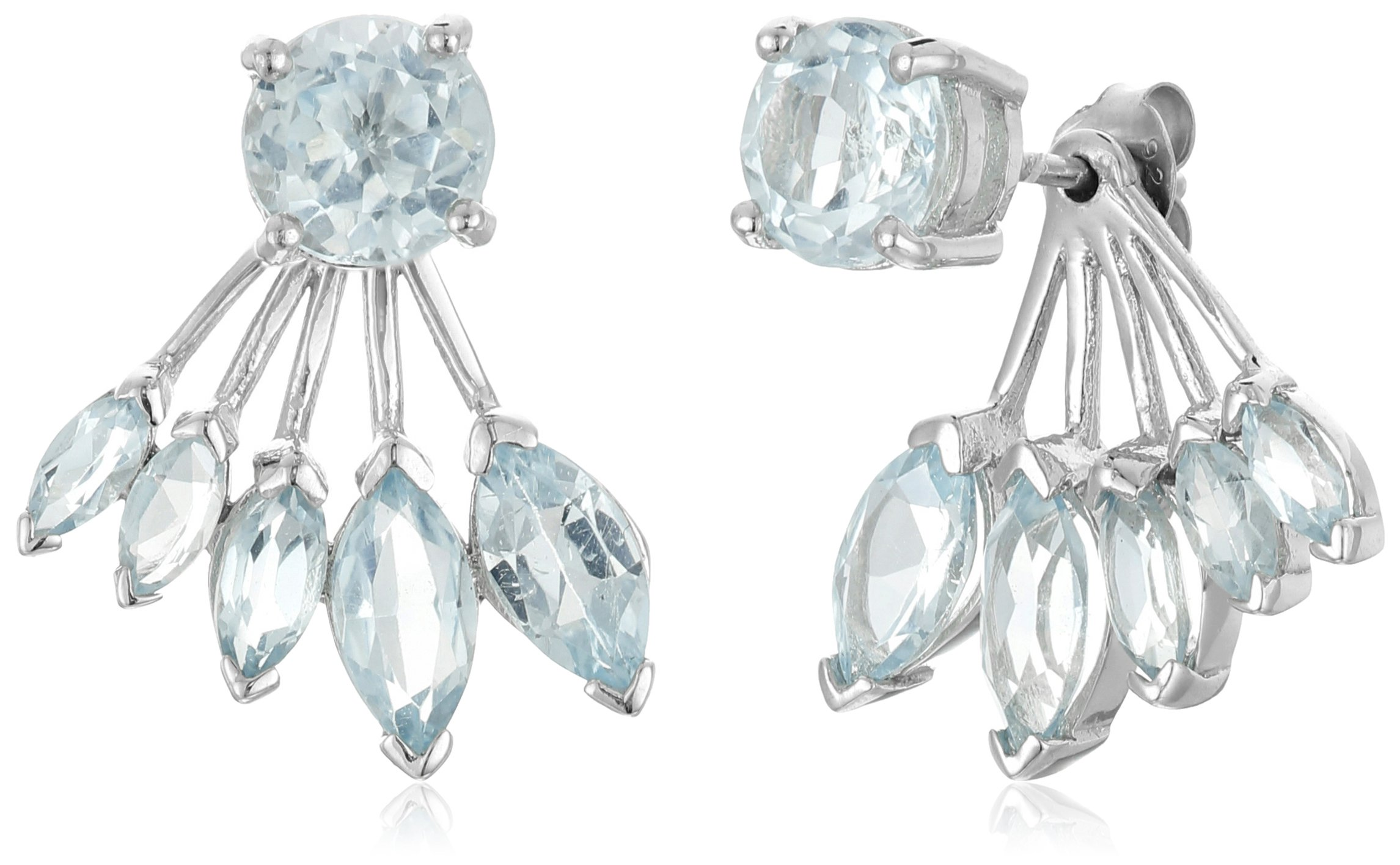 Blue Topaz Earring Jackets