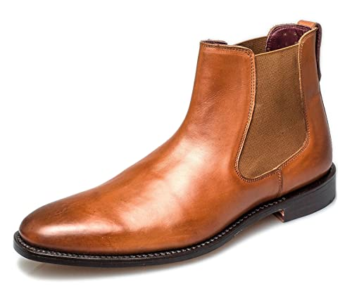 4ba9a67239f London Brogues Harvey Chelsea Goodyear Welted Mens Leather Boots ...