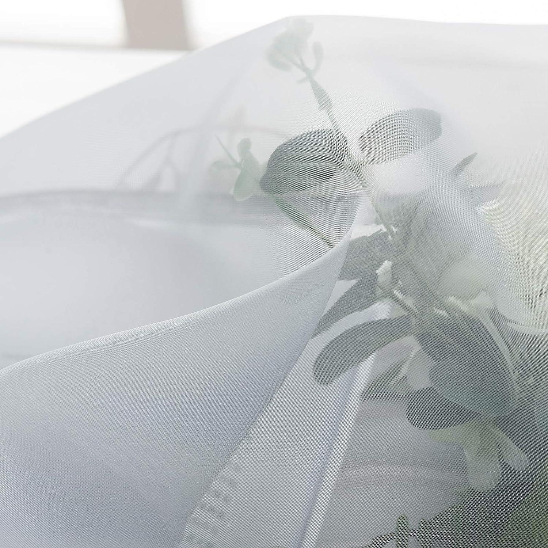 140x175 cm diverses formats et Couleurs au Choix Douceur dint/érieur pour Porte Fen/être Balcon Rose WOLTU VH5516rs,1 pi/èce Voilage Rideau en Voile paravent