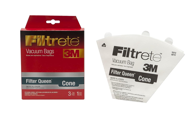 3M Filtrete FilterQueen Cone Micro Allergen Vacuum Bag Single Unit Red