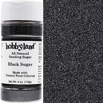 Hobbyland All Natural Sanding Sugar (Black Sugar, 4 oz) Made with ...