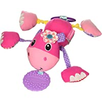 Infantino Shake & Pull Jittery Pal, Hippo Plush Toys