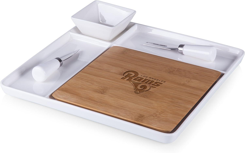 PICNIC TIME NFL LA Rams Peninsula Laser Engraved Serving Set Natural Wood One Size