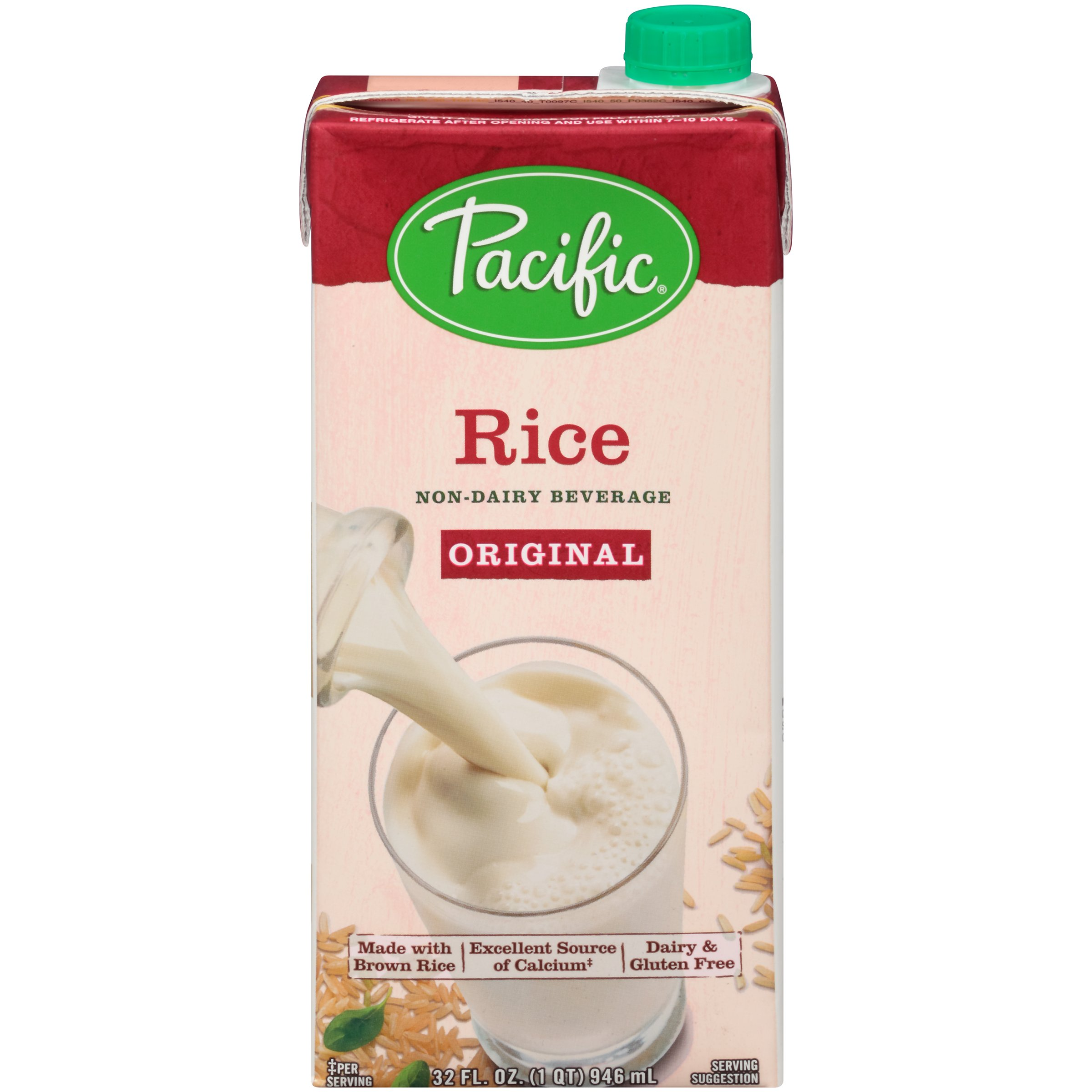 Pacific Foods, Pacific Low Fat Rice Original 32 oz (12 count)