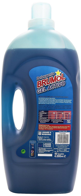Brumol - Detergente gel activo - Fórmula renovada con quitamanchas ...