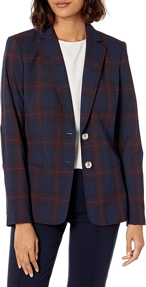 Tommy Hilfiger 汤美费格 女式休闲小西装外套 2.5折$37.06 海淘转运到手约¥285