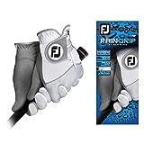 FootJoy Men's RainGrip Pair Golf Glove White Large, Pair