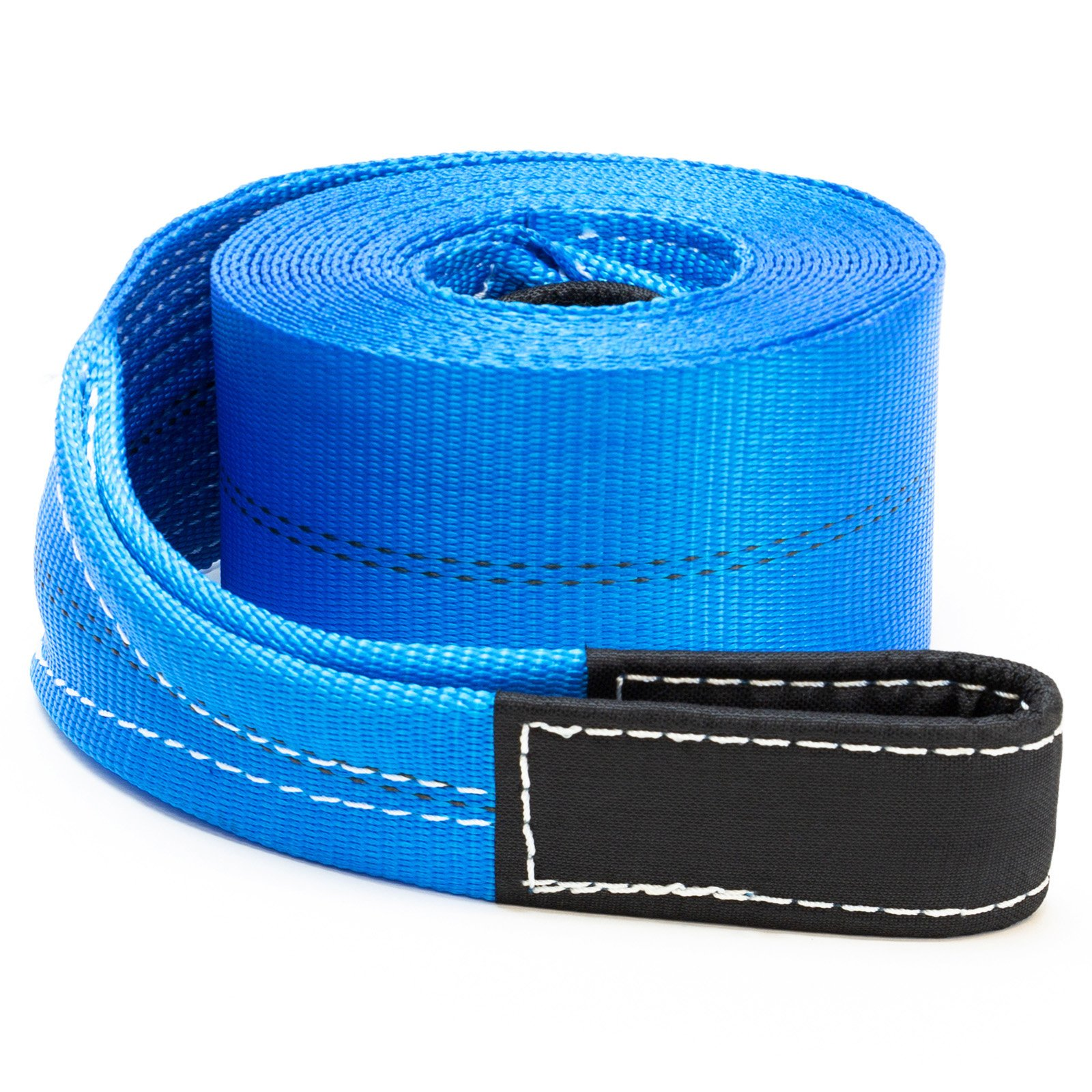 Driver Recovery 4'' x 30' Heavy Duty Tow/Recovery Winch/Snatch Strap with Reinforced Loops - 20,000 Pound Pulling Power for Emergency Towing by Driver Recovery Products