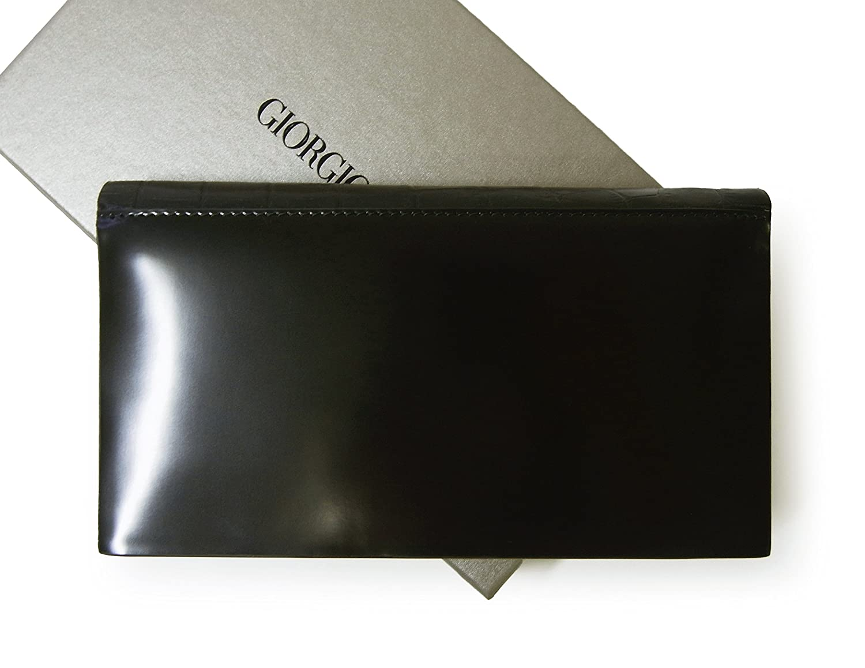 7026d46cf994 Amazon   (アルマーニ)ARMANI 長財布 ジョルジオアルマーニ メンズ 二つ折 (ブラック) A-2575 [並行輸入品]   ARMANI (アルマーニ)   財布
