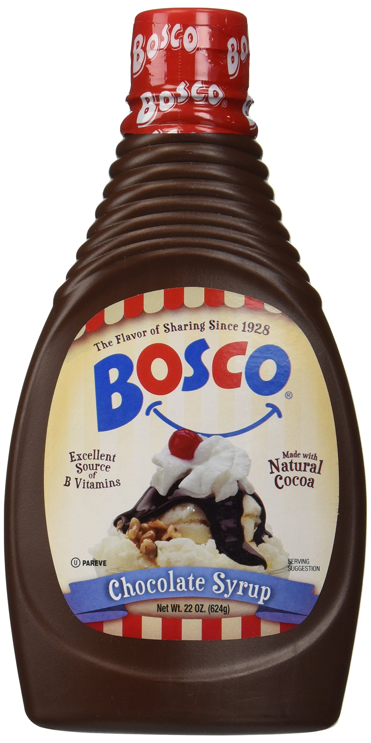The Original Bosco Chocolate Syrup - 22 oz Squeeze Bottle all n ...
