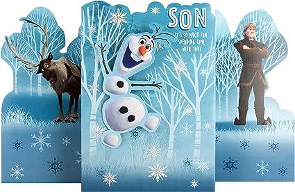 Hallmark Carte de Noël pour fils Motif La Reine des Neiges II