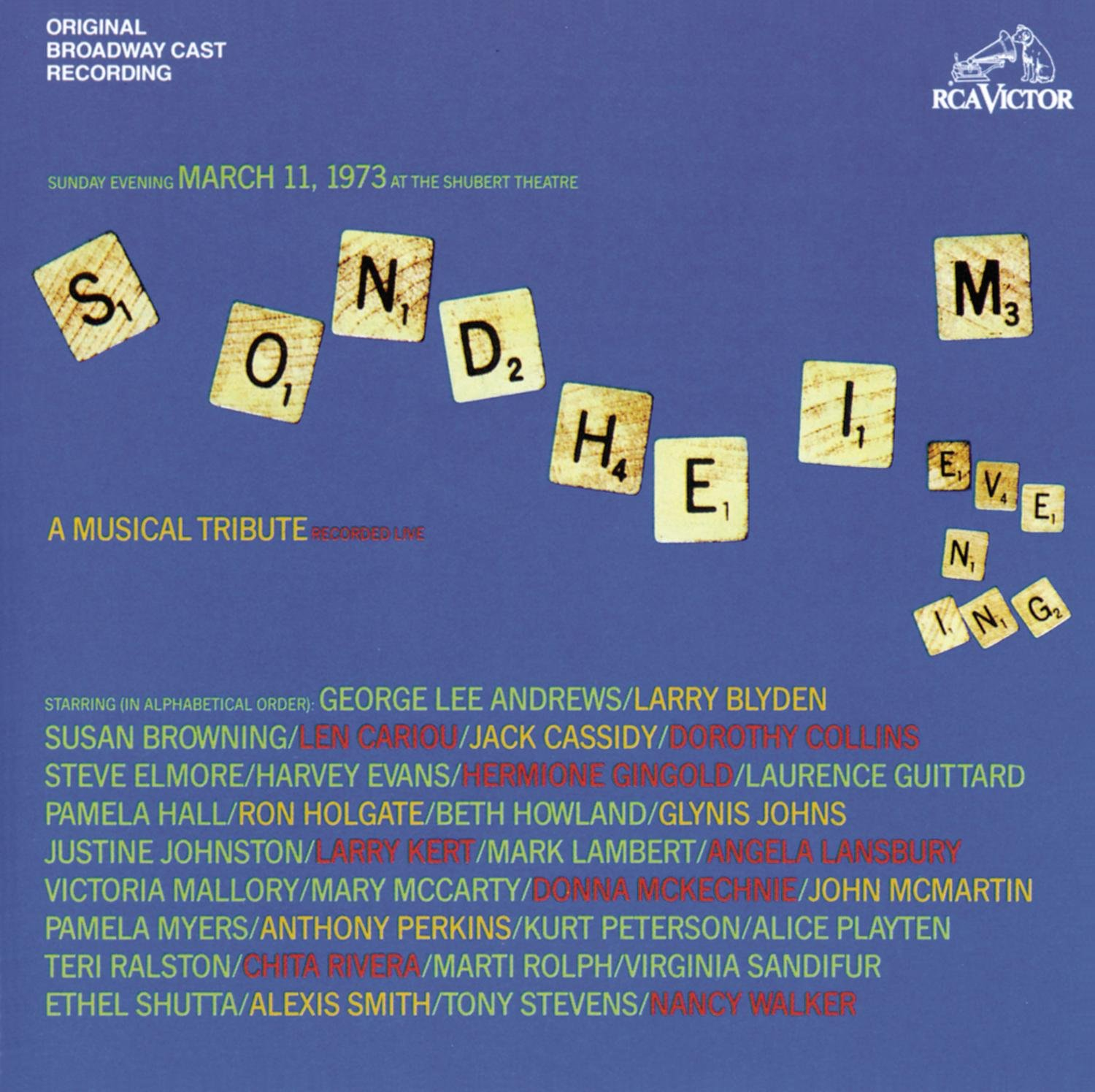 Sondheim Evening: A Musical Tribute (1973 Concert Cast)