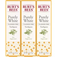 3-Count Burt's Bees Fluoride Free Purely White Natural Flavor Toothpaste (Zen Peppermint)