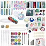 Funshowcase Resin Silicone Mould for Jewellery Making Pendant Necklace Keychain Lot 152-Piece