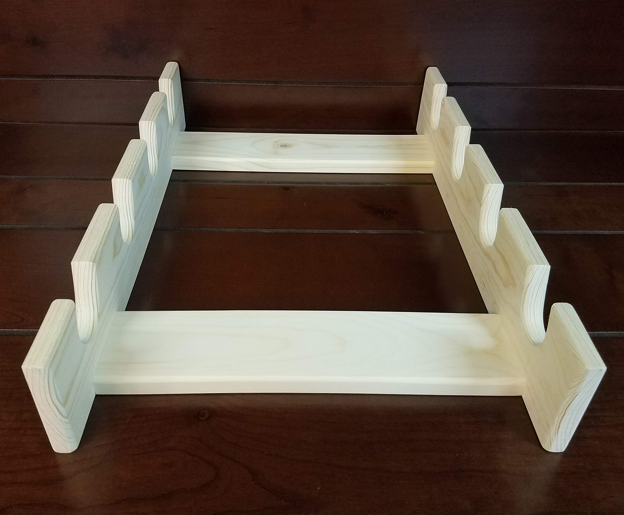Rolling Pin Rack with Four Slots - Multiple Rolling Pin Rack - Rolling Pin Holder - Rolling Pin Storage - 4 Rolling Pin Rack by Rusty Nail Custom Woodworking (Image #8)