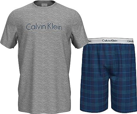 Calvin Klein S/S Short Set Juego de Pijama para Hombre
