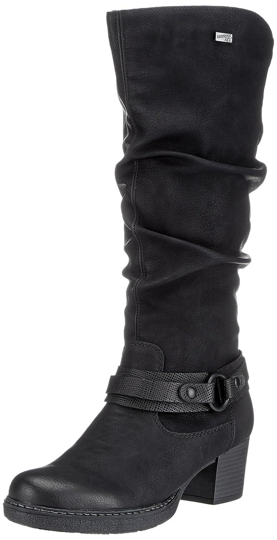 Remonte Damen D8176 Cowboy Stiefel (Schwarz/Schwarz) Schwarz (Schwarz/Schwarz) Stiefel 46f9ef