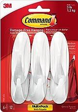 Command Designer Hooks, Medium, White, 6-Hooks (17081-6ES)