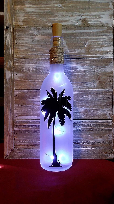 Palm Tree Wine Bottle Lamp