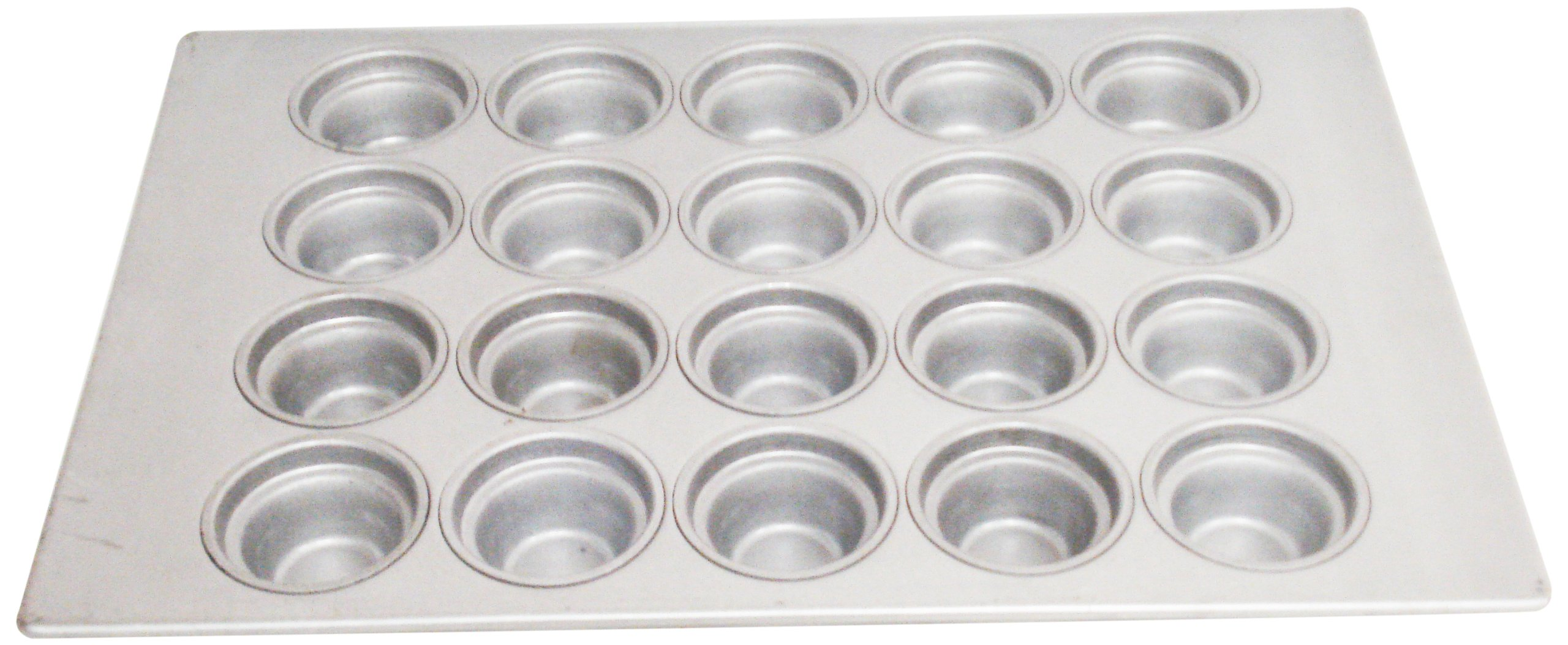 Magna Industries 15342 22-Gauge Aluminized Steel Crown Top Large Muffin Pan, 3-1/2'' Diameter, 4 x 5 Cups Layout (Pack of 6)