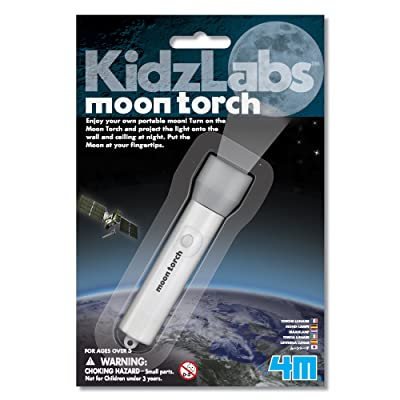 4M 3808 KidzLabs Moon Torch Projector Astronomy Science STEM Toys Educational Gift for Kids & Teens, Girls & Boys: Toys & Games