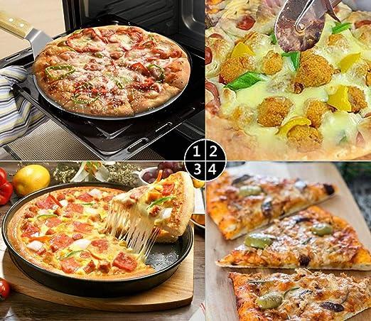 Pala Pizza Cortador de Pizza Pala Cortadora de Traslado Pala de Panader/ía Herramientas Utensilios para Hornear Pizza con Mango Largo Ideal tambi/én para extraer el Pan del Horno