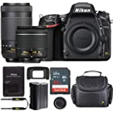 Nikon D750 24.3MP DSLR Camera with AF-P 18-55mm VR Lens & 70-300mm ED Lens Kit + 32 GB Sandisk Memory Card & Deluxe…
