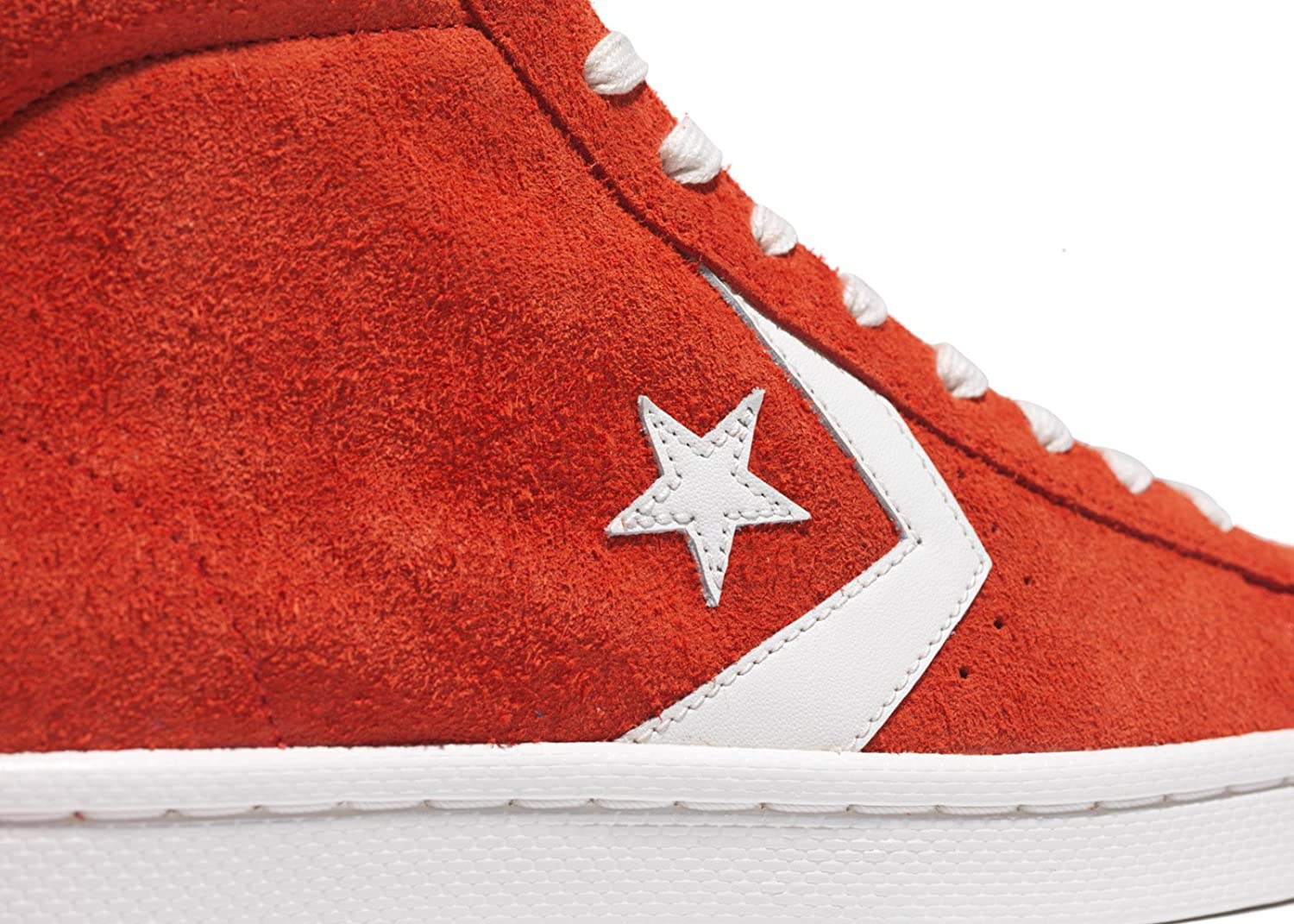 Converse Pro Leather 76 Mid Vintage Suede (44EUR - 10US, Fire Red)