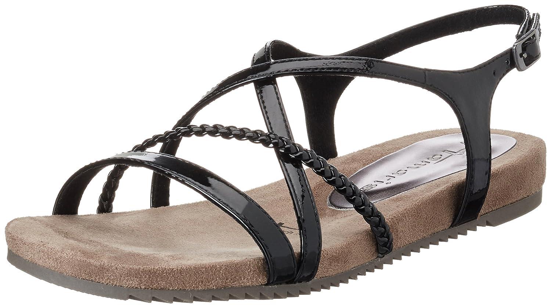 Black sandals ebay uk - Image Is Loading 7 Uk Black Black Patent 018 Tamaris Women