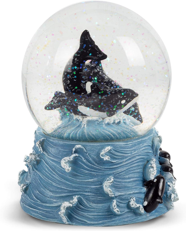 Sea World Mini Snow Globe//Paperweight Featuring Killer Whale Very Cute.