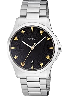 Gucci Quartz Stainless Steel Casual Silver-Toned Womens Watch(Model: YA1264029)