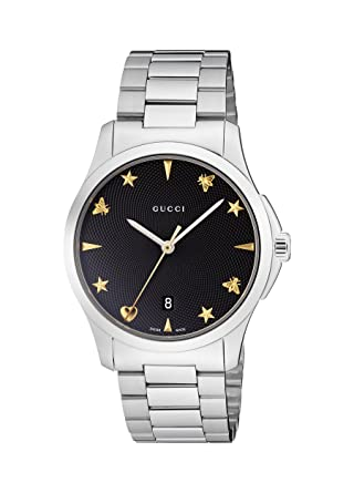 49a6b6d2e65 Gucci Unisex-Adult Analogue Classic Quartz Watch with Stainless Steel Strap  YA1264029  Amazon.co.uk  Watches