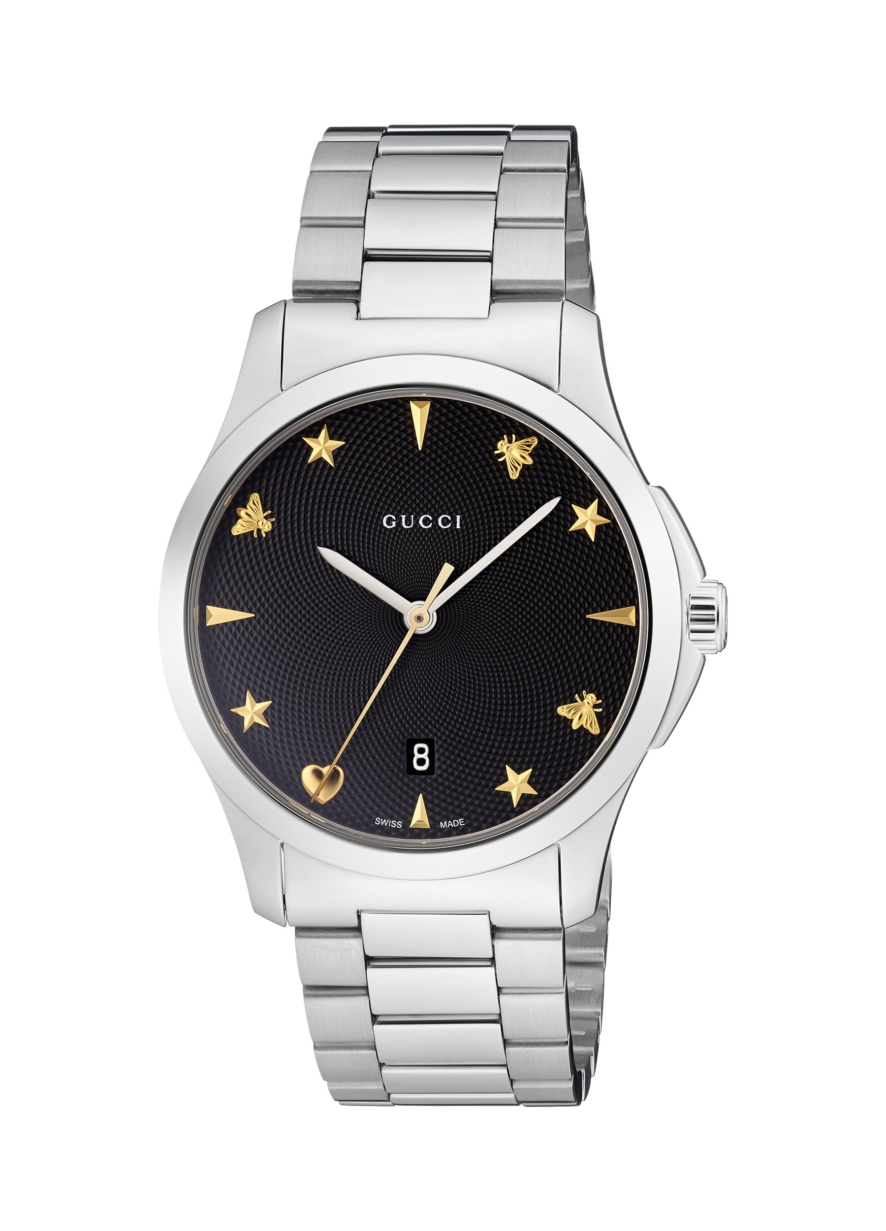 81ba3f2ffaa Gucci Quartz Stainless Steel Casual Silver-Toned Women s Watch(Model   YA1264029)