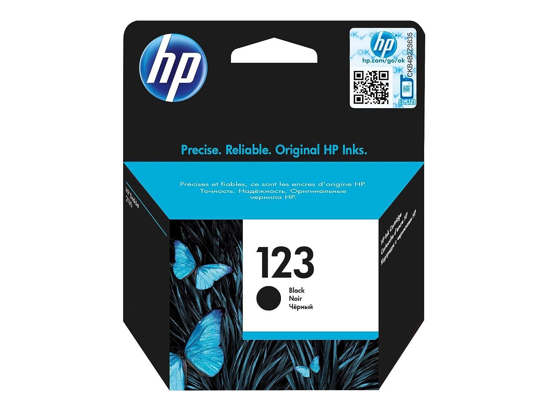HP 123 Black ink cartridge 3.5ml 190páginas Negro cartucho de tinta - Cartucho de tinta para impresoras (Negro, Deskjet 1110, Deskjet 2130 AiO, ...