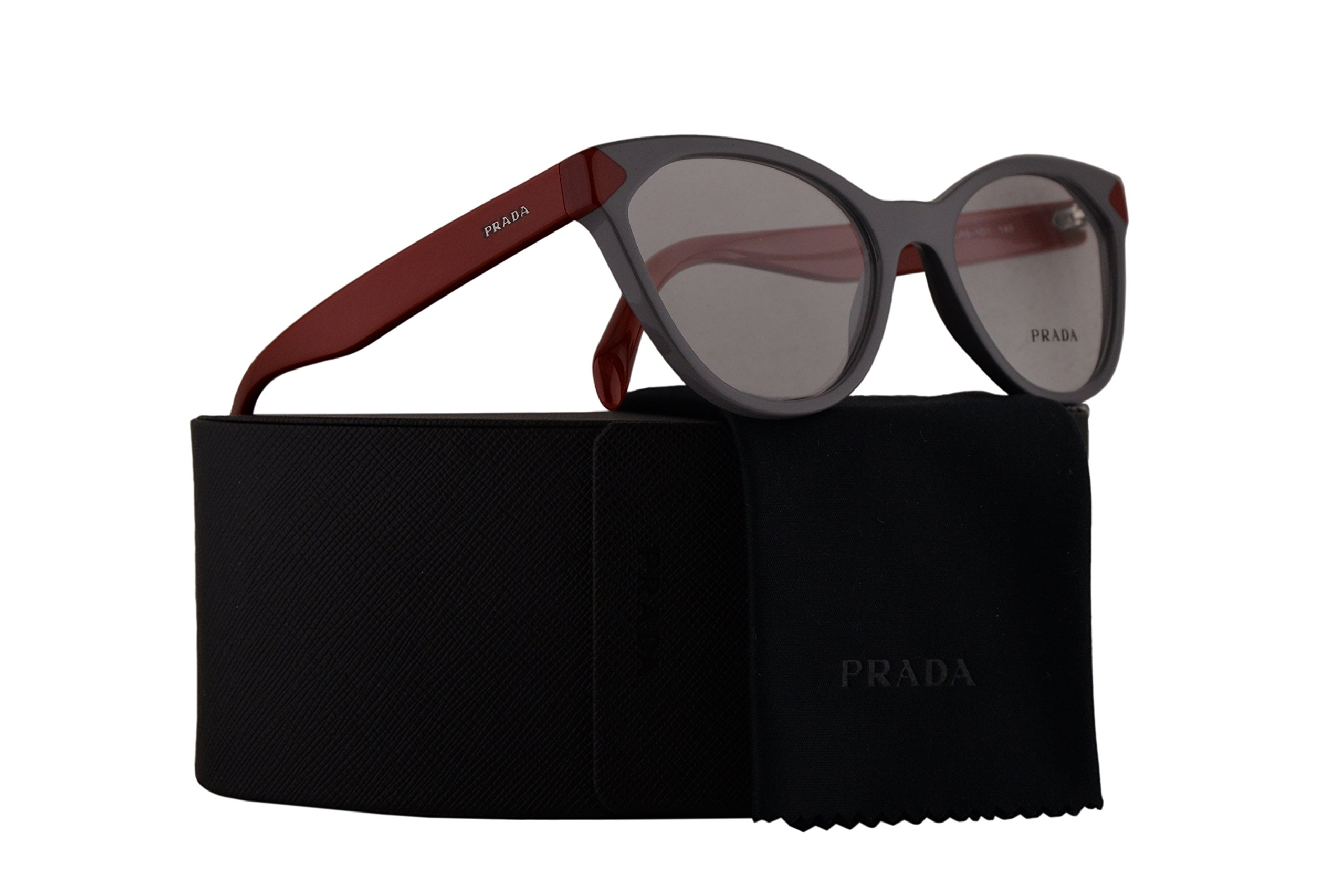Prada PR02TV Eyeglasses 52-17-140 Grey w/Demo Clear Lens UR91O1 VPR02T VPR 02T PR 02TV